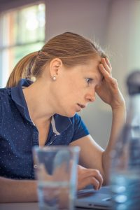 woman looking frustrated